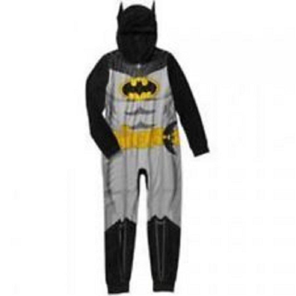 DC Comics Batman Boy Hooded Sleeper Blanket Pajama Size 6/7