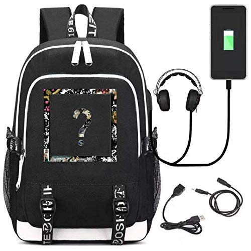 Xxxtentacion Letter Backpack for Teens and Fans,Casual Backpack with Big Capacity,School Bag with USB Charging Port]()
