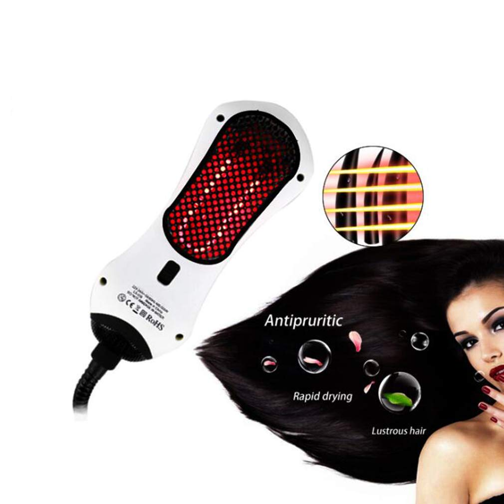 MTXLN One Step Hair Dryer & Infrared hot air Comb |Multifunction Styler Hot Air Paddle Brush |Mini Hair Dryer for All Hair Types | EliminateFrizzing, Tangled Hair & Knots(White) by MTXLN (Image #5)
