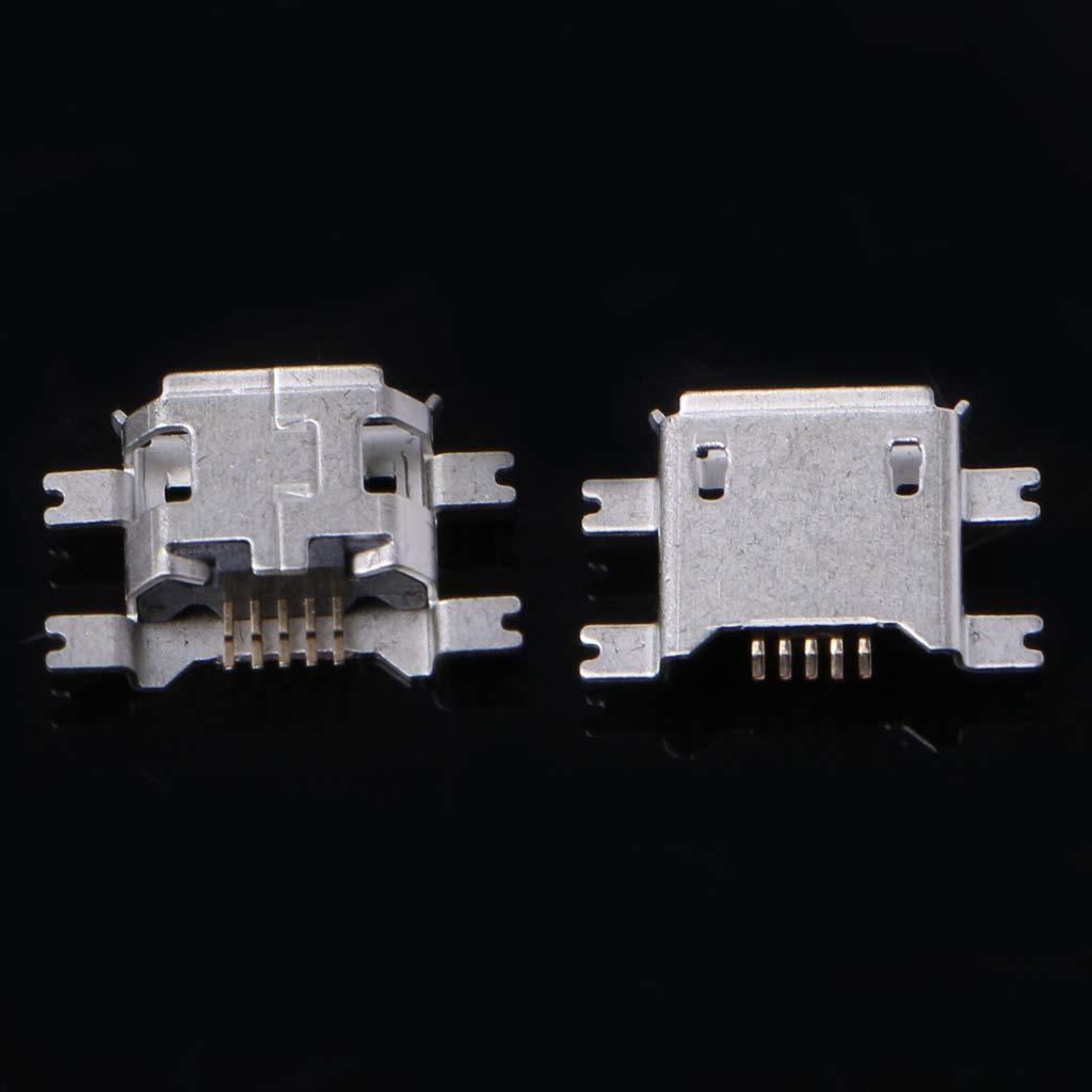 Rtengtunn Connettore Femmina Femmina a 5 Pin Micro USB B 5 Pin per Ricarica Telefono Tablet