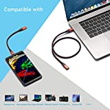 USB C Extension Cable Short, RIITOP USB-C Male to