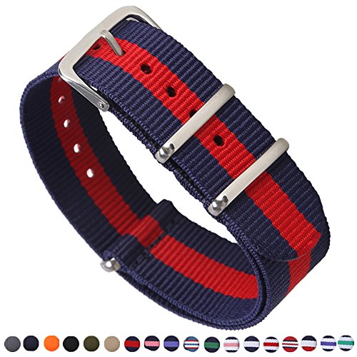 ATO Watch Bands Nylon Straps Width 16mm 18mm 20mm 22mm 24mm ()