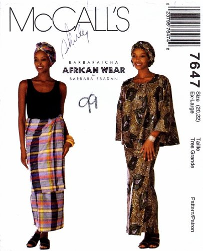 Amazon McCall's 60 Sewing Pattern African Top Wrap Skirt Awesome African Dress Patterns For Sewing