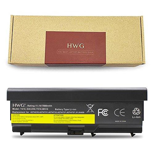 HWG T410 High Capacity Battery (11.1V 87Wh) for Lenovo T410 T420 T510 T520 E40 E50 T520 E525 W510 W520 42T4751 42T4235 42T4737 [Not Compatible with T530/W530]