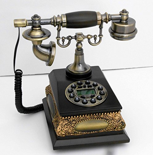 Retro style push button dial desk telephone / Home decorative # 1687 by Nabil's Gift Shop