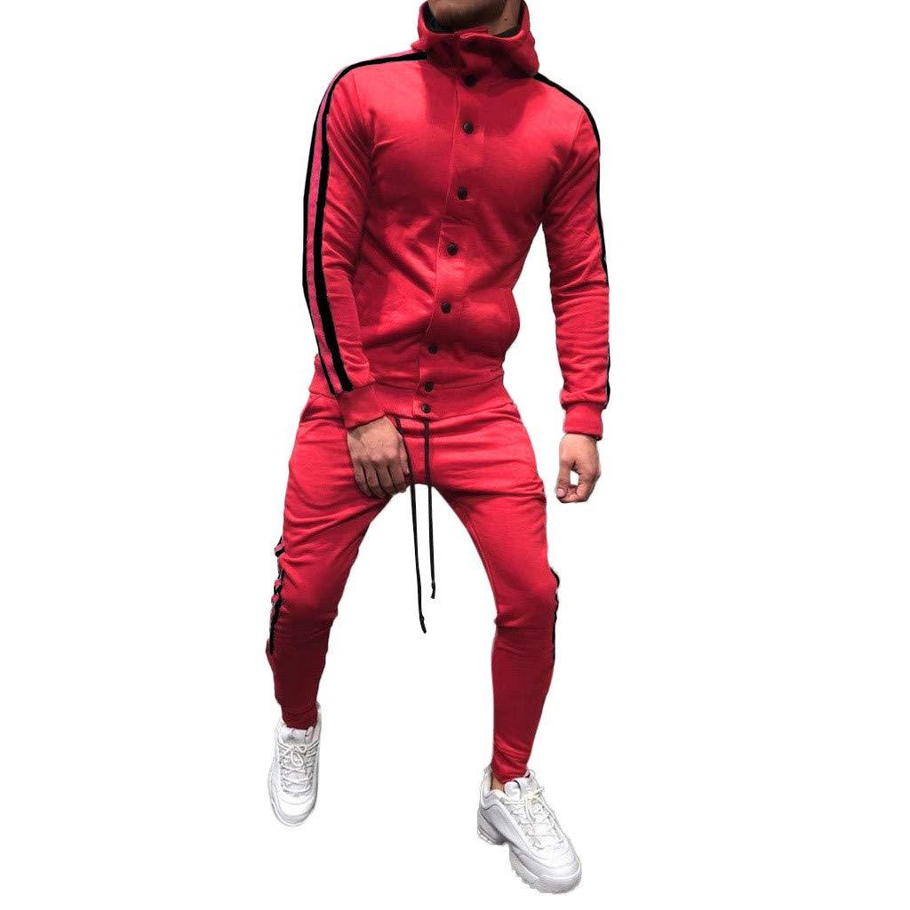 Homme Ensemble Pantalon de Sport Sweatshirt /à Capuche Jogging Surv/êtement
