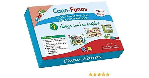 Cono-Fonos1-Juego con los sonidos / Editorial GEU/ A partir de 3 años/ Desarrollo metalingüístico / Indicado para el trabajo de especialistas: Amazon.es: González Espinosa, Alicia, Altozano Ruf, Marta: Libros