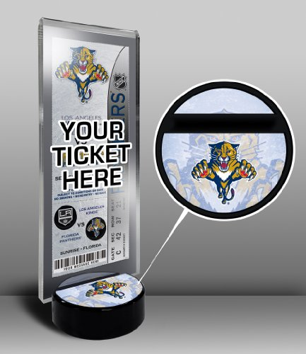 NHL Florida Panthers Home Plate Ticket Stand, Small, Black