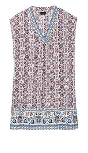 Blue Womens Printed Dress Sleeveless Casual Bobeau x0qzfFS