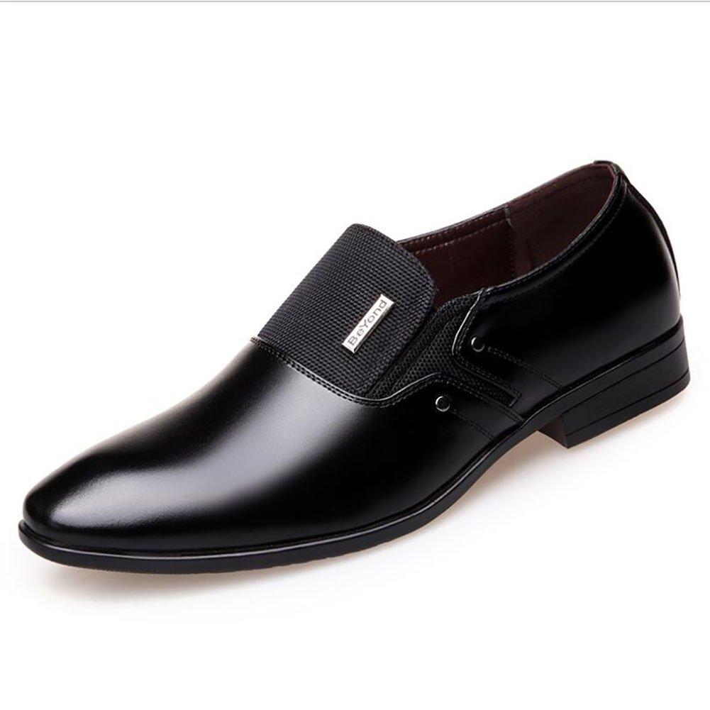 Herren Lederschuhe Frühling/Herbst Komfort/Mode Stiefel wies Gummisohle Formale Geschäft Schuhe Hochzeit & Abend Lederschuhe (Farbe : EIN, Größe : 38)
