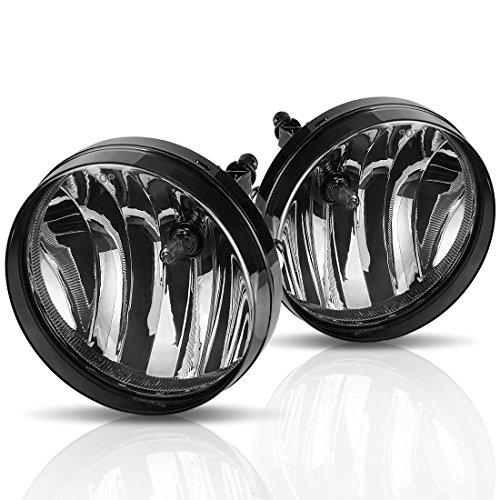 Fog Lights For GMC Sierra 1500 2007-2013 Sierra 2500 3500 2007-2014 (OE Style Smoke lens w/ 5202 PS 12V 37.5W Bulbs)