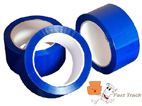 1 Roll Of BLUE COLOURED Packing Parcel Tape 50mmx66m Fast Track Packaging