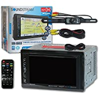 Soundstream VRN-65HXB Double DIN 2DIN 6.2 Car GPS Navigation MP3 CD DVD player Bluetooth Sirius XM Ready + DCO Waterproof Backup Camera with Nightvision (Optional camera)
