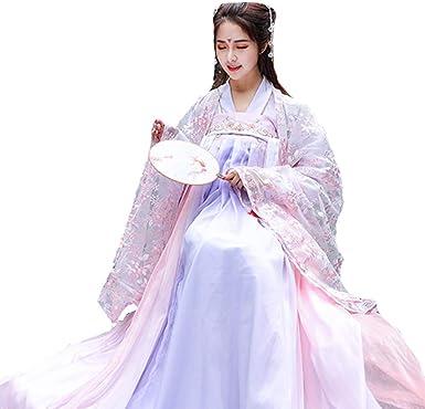 Susichou Hanfu Spring Sakura - Falda de Manga Ancha para Vestido ...