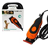 Electric Dog Clippers - Complete Set with Combs and Cleaning Brush - Powerful Motor to Tackle Thick Hair