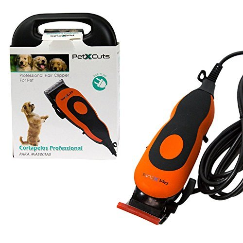 Electric Dog Clippers - Complete Set with Combs and Cleaning Brush - Powerful Motor to Tackle Thick Hair by PetXCuts