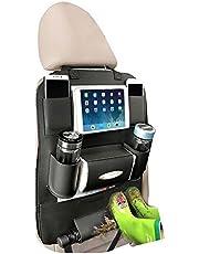 Beepzoo - Organizador para asiento trasero de coche, piel sintética, con soporte para iPado tableta, accesorios de viaje