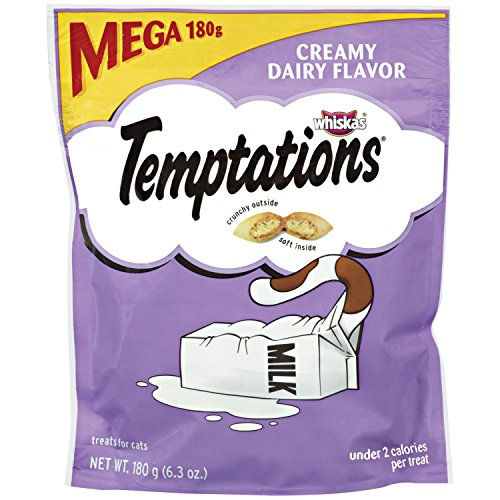 Temptations Classic Cat Treats Creamy Dairy Flavor, (10) 6.3 Oz. Pouches