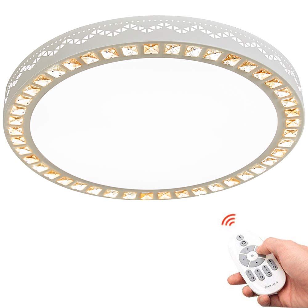 Deckenleuchte, 30W LED Deckenleuchte Kristall Deckenleuchte Rund Weiß Acryl Deckenleuchte Nordic Warm Wohnzimmer Schlafzimmer Korridor Lampe Durchmesser 30 40 50 60 Cm