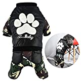 Green House Dog Winter Coat, Pet Jumpsuits Windproof Puppy Jacket Camouflage Warm Coats for Dogs Review