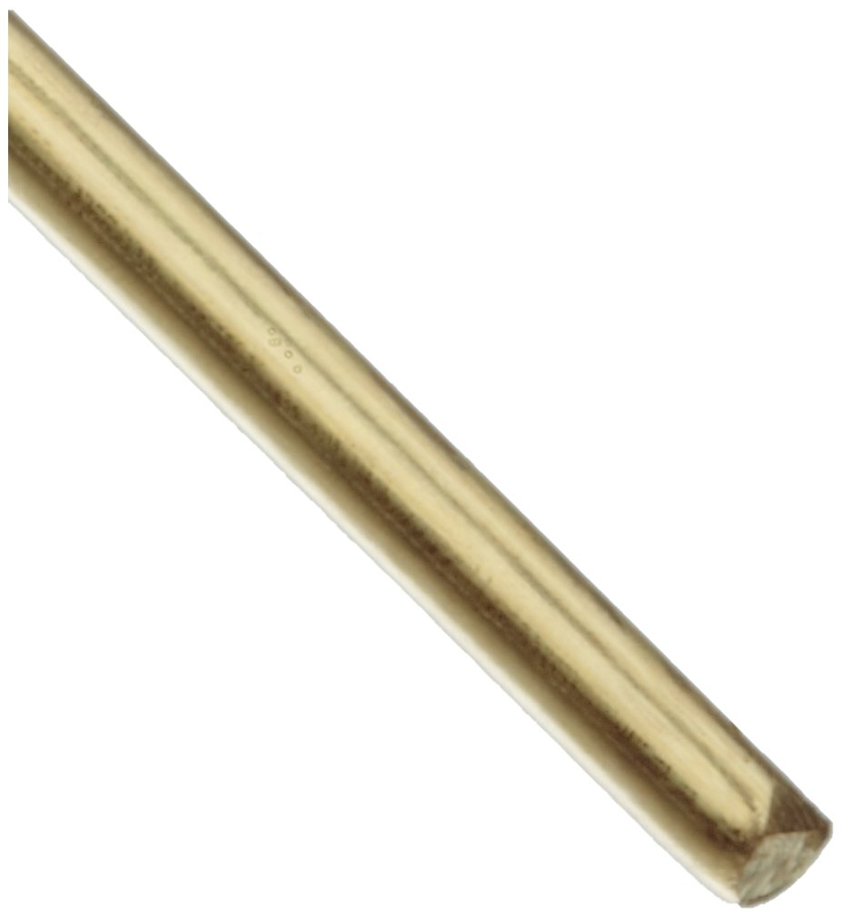260 Brass Wire, Unpolished (Mill) Finish, Annealed, Soft Temper, ASTM B134, 0.0159'' Diameter, 6300' Length by Small Parts