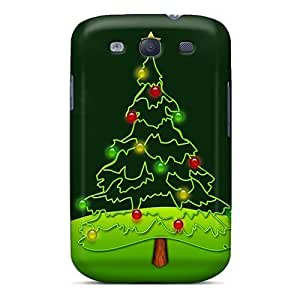 New Snap-on NikRun Skin Case Cover Compatible With Galaxy S3- Christmas Tree Christmas Cards
