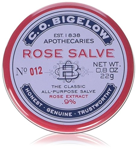 C.O. Bigelow C.O., Rose Salve, The Classic All-Purpose Salve 22g/0.8oz, (3 Pack)