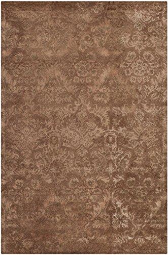 Safavieh Martha Stewart Collection MSR3124C Damask Wool and Viscose Area Rug, 2-Feet 6-Inch by 4-Feet 3-Inch, Mahogany