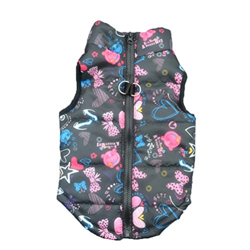 51PkG3lduPL - Howstar Pet Camouflage Cold Weather Coat, Small Dog Vest Harness Puppy Winter Padded Outfit Warm Garment