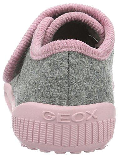 Para pinkc0502 A Grau Geox Zapatillas grey Home Niñas Bajas J 0AwffzxnX