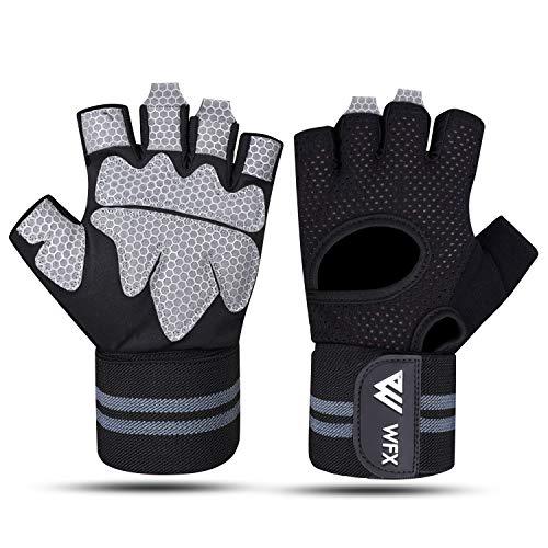 WESTWOOD FOX WFX Gewichtheffen Handschoenen voor Mannen Vrouwen Gym Handschoenen met Pols Wrap Ondersteuning voor…