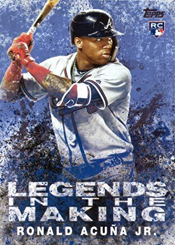 2018 Topps Update Legends in the Making Blue #LITM-1 Ronald Acuna Jr. Baseball Rookie Card