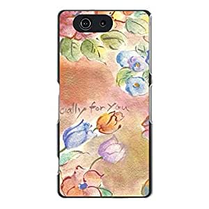 Newest Durable Plastic Back Cover snap on sony?xperia?Z1 Customized Flower Printing Case Cover for Student with Flower Logo Series