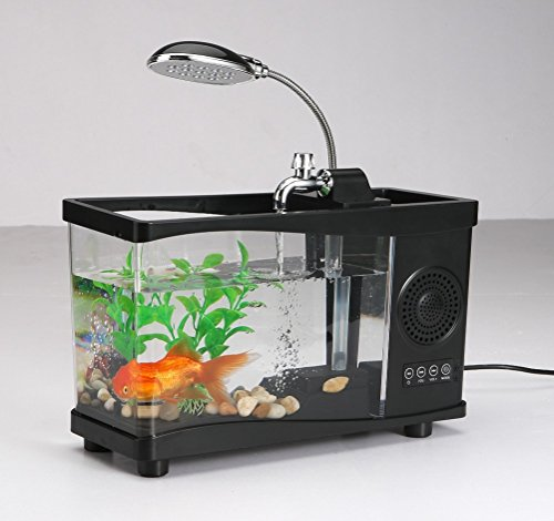Black Led Aquarium Handsfree Wireless Bluetooth Stereo