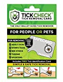 TickCheck Tick Remover Card - Wallet Sized Tick Removal Tool (1 Pack)