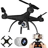 KY501 RC Drone Wifi FPV Quadcopter ,with 6-Axis Gyro 2.4G Altitude Hold HD Camera UAV Helicopter 360-degree 3D Rolling, [Easy to Fly for Beginner] (Yellow)