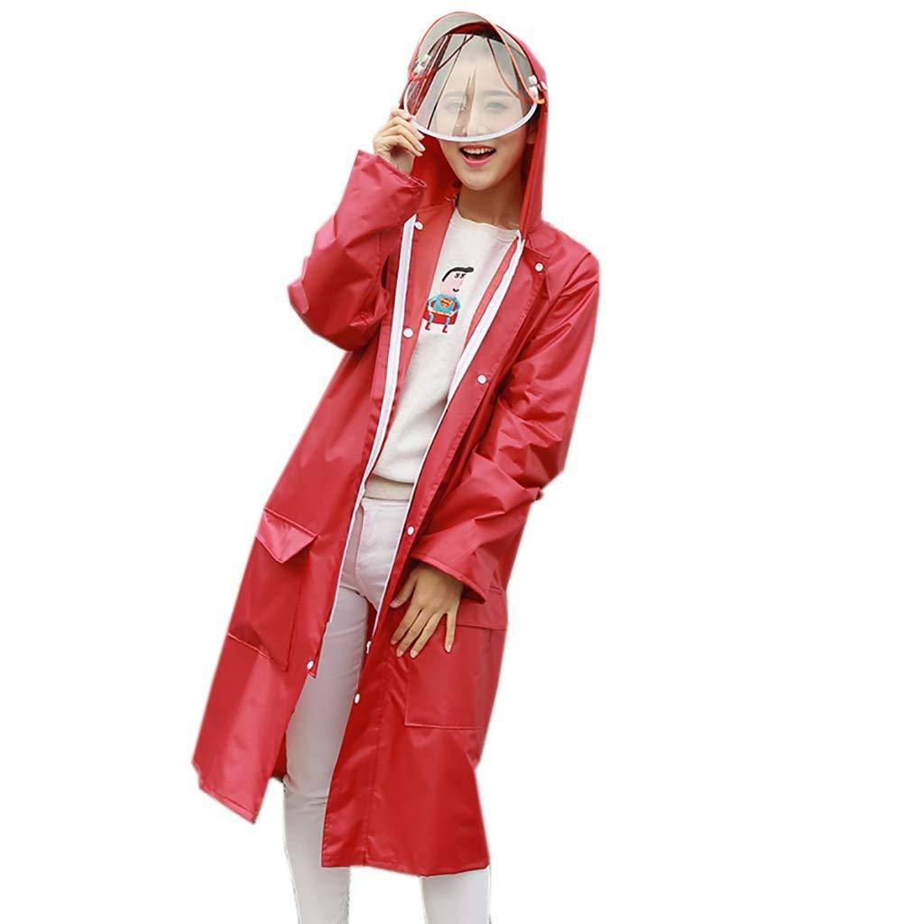 C XX-grand Hyuyi Manteau de Pluie imperméable pour Hommes et Femmes, Coupe-Vent, Manteau Long et imperméable en Plein air (Couleur   A, Taille   XXL)