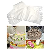 Dorothy 100 Pcs 16 Inch Large Disposable Piping Bags Thickened Icing Bags Plastic Pastry Bags for Sugar Craft or Cupcakes Decorating Bags Set