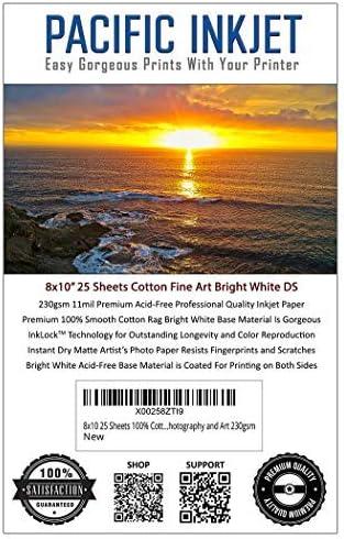 Fine Art Papier Für Tintenstrahldrucker 100 Baumwolle Matt Helles Weiß Doppelseitig 230 G M Bürobedarf Schreibwaren