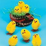 Lot de 12 Mini Poussins Tout Doux - Idéal pour les décorations de Pâques