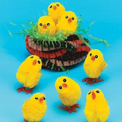 Baker Ross Flauschige Mini Küken Als Dekoration Für Ostern Zum Basteln Für Kinder 12 Stück