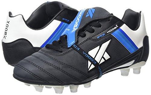KOOGA Nuevo FTX LCST Moulded Erwachsene Rugby-Schuhe Schwarz/Weiß/Blau 08H