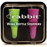 Metrokane 6119 Rabbit Wine Bottle Stoppers, Set of 2, Blue & Purple
