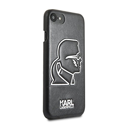 Karl Lagerfeld iPhone 8 & iPhone 7 - by CG Mobile- Glow in the Dark Graphic Hard Cell Phone Case | Easily Accessible Ports | Officially Licensed.