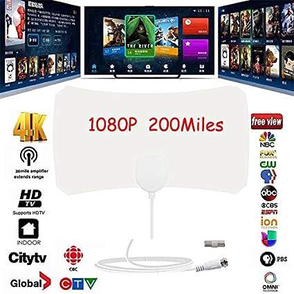 200Miles Long Range HD Digital Antenna TV HDTV Outdoor Antenna Freeview 4K 1080P