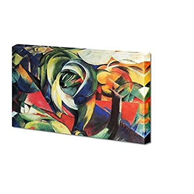 The Mandrill by Franz Marc Giclee Canvas Prints Wrapped Gallery Wall Art | Stretched and Framed Ready to Hang - 16