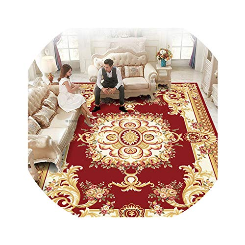 European Style Soft Carpet Bedroom Living Room Floor Home Doormats Collapsed Meters Machine Washable Hand-Washing Rug Big Mat,MJ0013,140CM 200CM