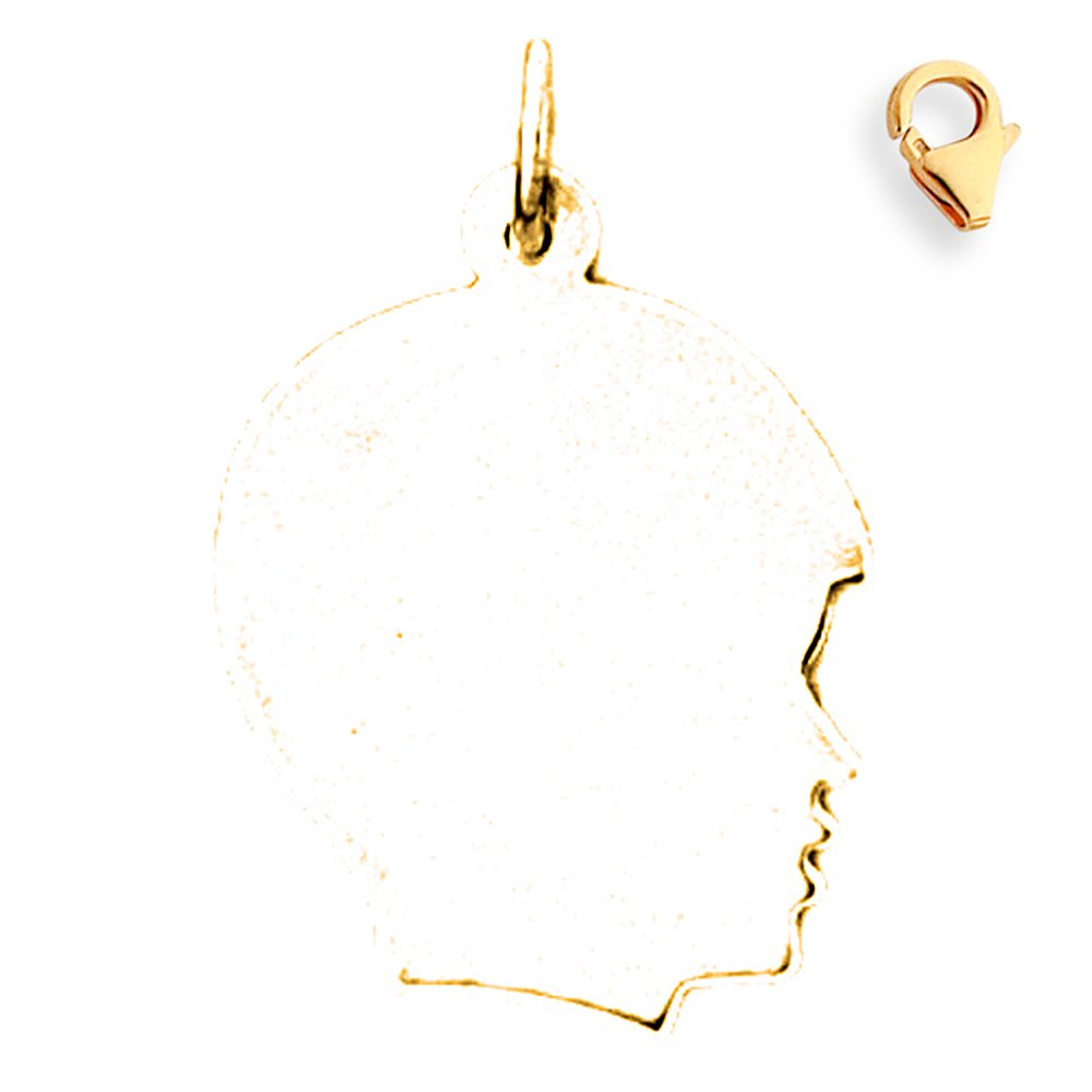 27mm Silver Yellow Plated Handcut Charm