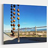 Westlake Art - Catholic Church - 16x20 Canvas Print Wall Art - Canvas Stretched Gallery Wrap Modern Picture Photography Artwork - Ready to Hang 16x20 Inch (BF90-3857A)
