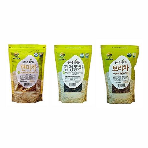McCabe Organic Tea, 1.5-Pound (3-Pack) (Barley Tea, Black Bean Tea, and Brown Rice Tea) - Black Barley